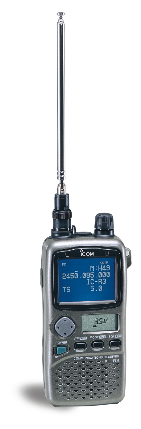 Icom IC-R3, 400 Channel, .495-2450.095 Mhz Audio/Visual Receiver - DISCONTINUED