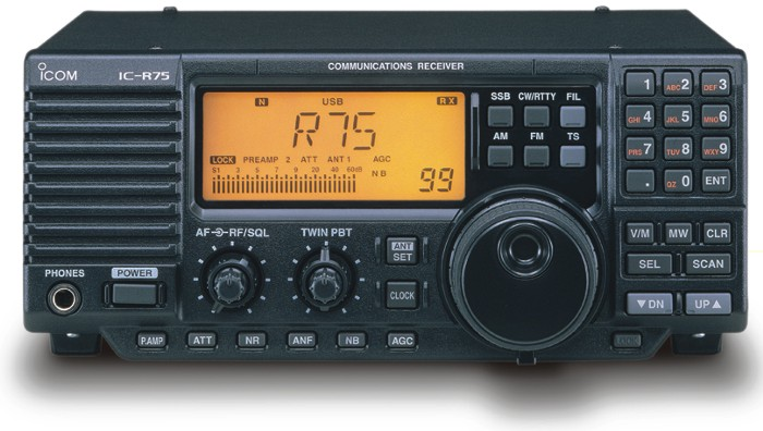 Icom IC-R75 12, .03 - 60 Mhz Receiver